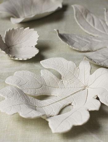 ساخت ظرف به شکل برگ با خمیر مجسمه سازی