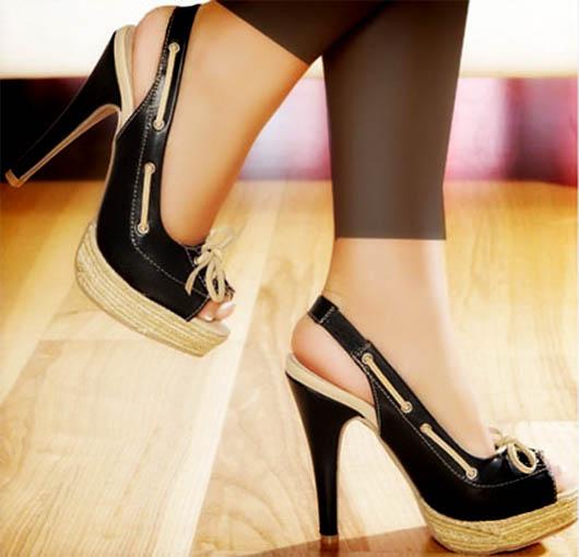 کفش های پاشنه دار شیک و جدید دخترانه