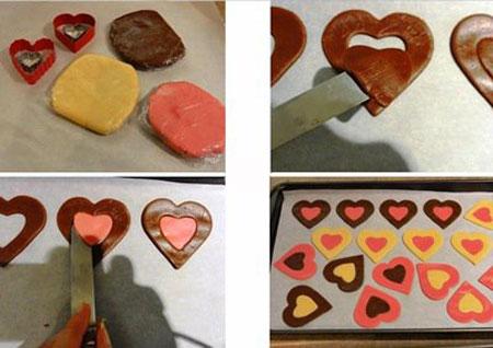 شیرینی مخصوص روز عشق,طرز تهیه شیرینی قلبی شکل