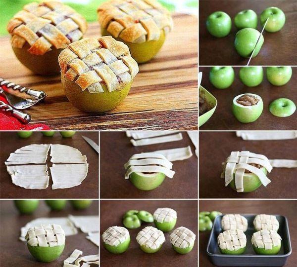نان، شیرینی، دسر  , طرز تهیه پای سیب در سیب
