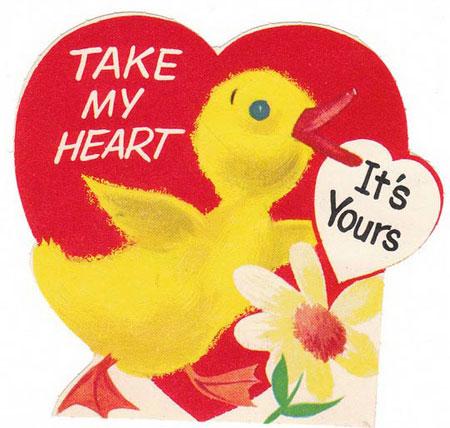 کارت پستال برای روز ولنتاین (عشاق),کارت تبریک ولنتاین