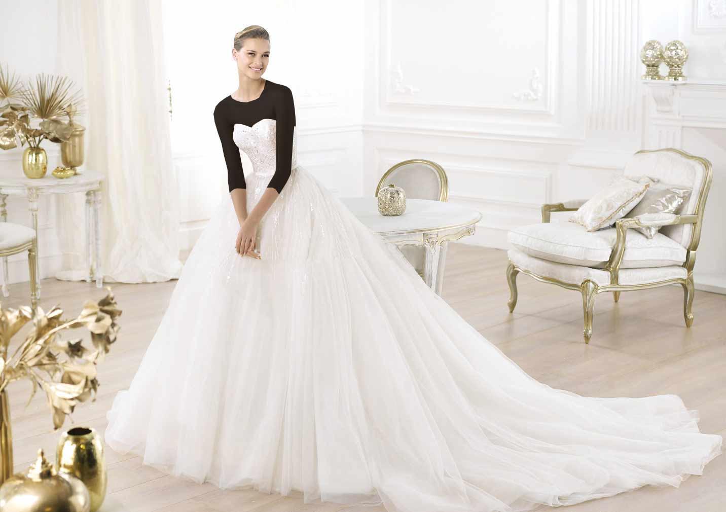 Hotnaz com   d24abfd9541f5ccbfe672ace3628c7ef مدل های مختلف لباس عروس و یقه لباس عروس