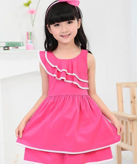 پیراهن مجلسی دخترانه - لباس تابستانی دخترانه  مدل لباس بچگانه