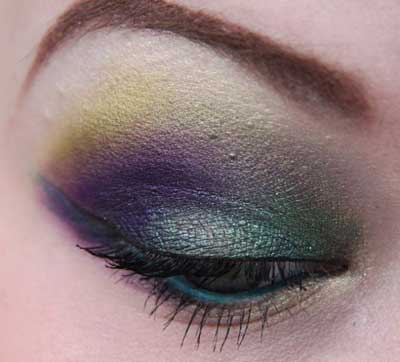 میکاپ چشم به رنگ پرهای طاووس, گالری عکس های زیباترین آرایش چشمهای طاووسی ,آرایش چشم, میکاپ چشم طاووسی