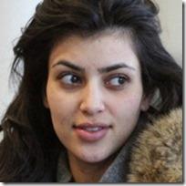 Kim Kardashian Without Makeup thumb عکس ستاره های زن مشهور هالیوود بدون آرایش