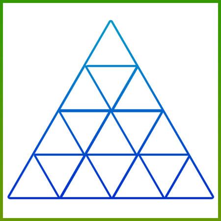 معمای هوش, معمای تصویری تعداد مثلث, معما و تست هوش, تست آیکیو,تست هوش تصویری,معمای سخت
