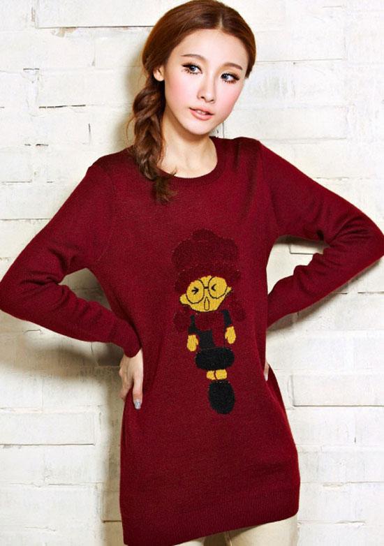 مدل لباس زنانه مدل لباس,کیف,کفش,جواهرات  , مدل بلوز بافتنی دخترانه کره ای 3