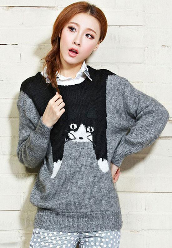 مدل بلوز های بافت دخترانه کره ای,بافت های دخترانه کره ای 2015