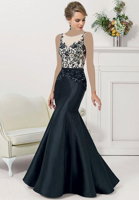 مدل لباس مجلسی بلند و مشکی زنانه لاکچری