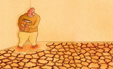 کاریکاتور هایی معنا دار از خطر کم آبی و خشک سالی