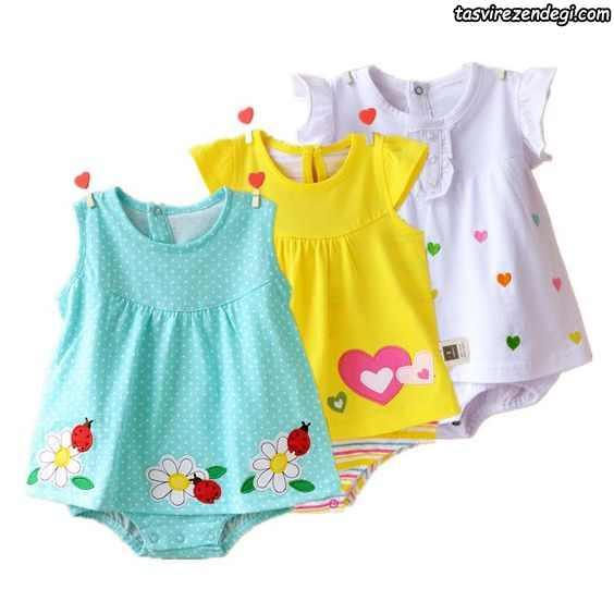 لباس بهاری تابستانی دخترانه