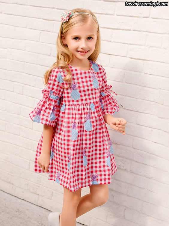 لباس بهاری تابستانی دخترانه پیراهن