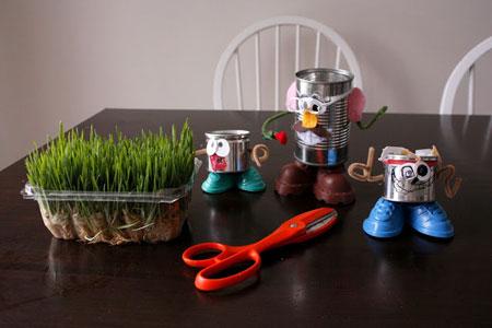 سبزه در قوطی,درست کردن سبزه, تزیین سبزه, تزیین سبزه برای هفت سین , درست کردن سبزه برای کودکان, سبزه بچه گانه