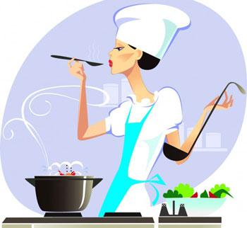 آشنایی با لغات و اصطلاحات آشپزی, سرخ کردن ,قوام آوردن, ور آمدن, کارامل کردن ,شکرک زدن, بن ماری ,جا افتادن