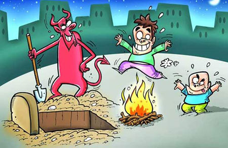 تصاویر طنز - عکس خنده دار - کاریکاتورهای چهارشنبه سوری