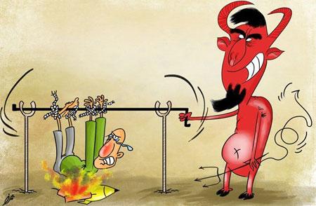 تصاویر طنز - عکس خنده دار - کاریکاتور چهارشنبه سوری