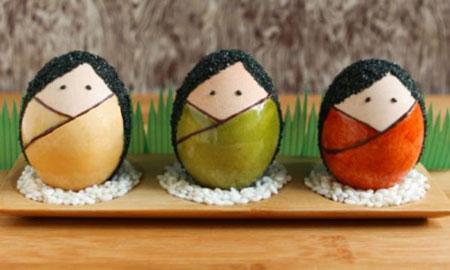تزیین تخم مرغ هفت سین به شکل کوکشی - تزئینات سفره هفت سین