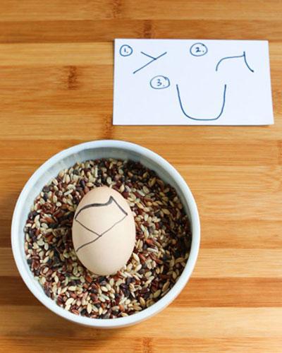 تزیین تخم مرغ هفت سین به شکل کوکشی, تزیین تخم مرغ هفت سین