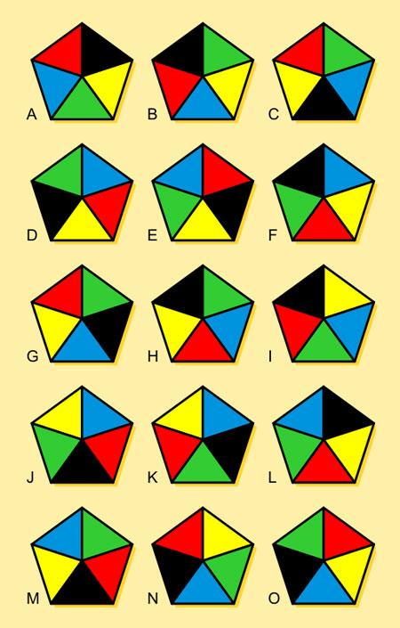 معما و تست هوش, معمای تصویری شکل های مشابه, تست هوش تصویری
