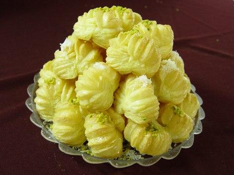 خمیر هزارلا - شیرینی پاپیونی - شیرینی زبان