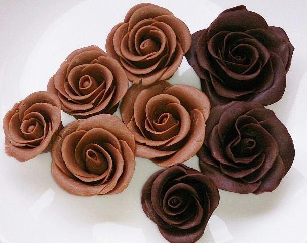 آموزش تهیه گل رز شکلاتی - تزیین کیک