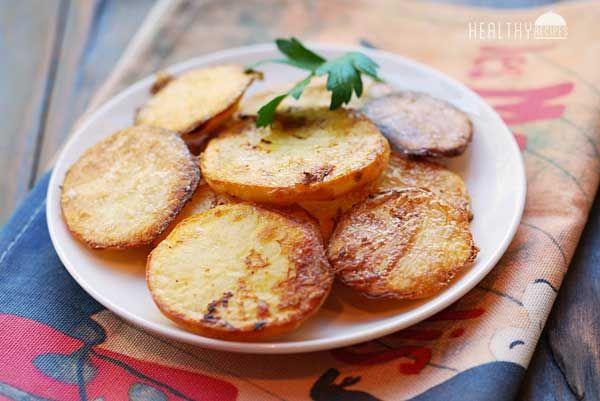 سیب زمینی بریان بدون فر(چیپس بسیار ترد و خوشمزه)