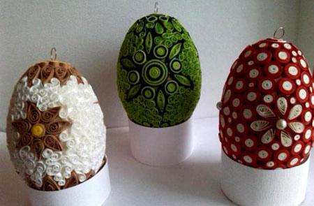 تزئین تخم مرغ, تزئین تخم مرغ هفت سین,تزیین تخم مرغ با کاغذ,هفت سین 94, تصاویر تخم مرغ سفره هفت سین