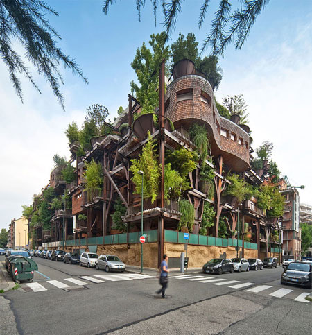 طراحی خانه با درخت