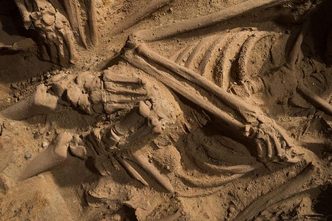 کشف گور - گور دست جمعی - فروشگاه -paris - mass - burial پاریس - فروشگاه - زیرزمین - باستان - گور