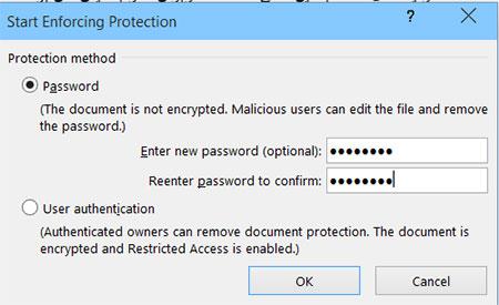 حفاظت از فایل ورد - گذرواژه - رمز گذاشتن -  محافظت از فایل Word