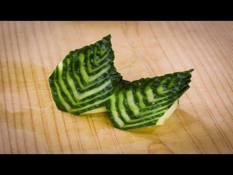 آموزش تزیین خیار - میوه آرایی - سبزی آرایی