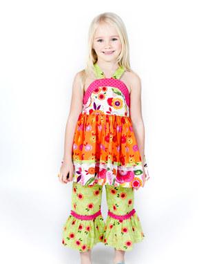 پیراهن بچگانه - بلوز شلوار بچگانه - سارافان بچگانه - مدل لباس بهاری