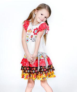 پیراهن بچگانه - سارافان بچگانه - بلوز شلوار بچگانه - مدل لباس دخترانه