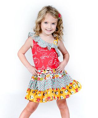 پیراهن بچگانه -  سارافان بچگانه - بلوز شلوار بچگانه - مدل لباس بهاری دخترانه