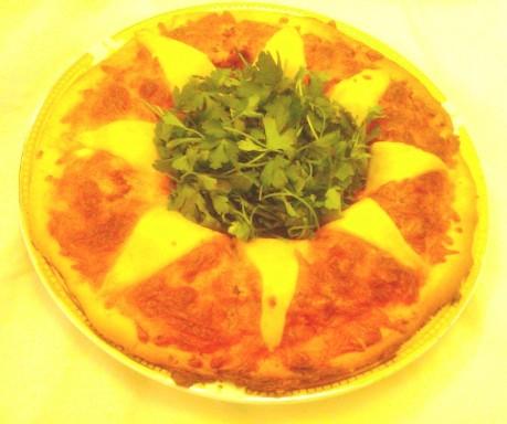 فست فود  , طرز تهیه پیتزا گل آفتابگردان
