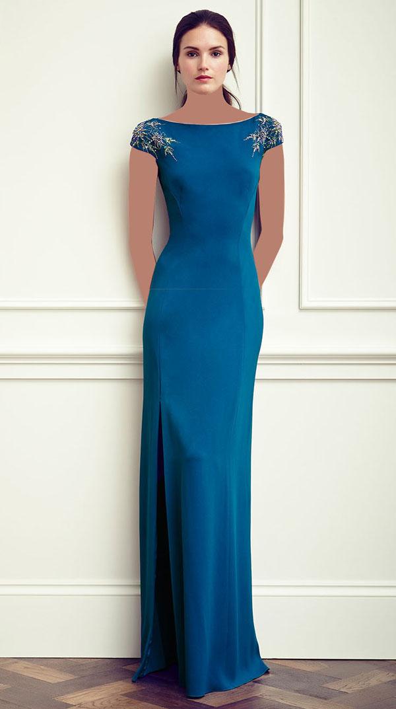 مدل لباس شب دخترانه جدید رنگ آبی