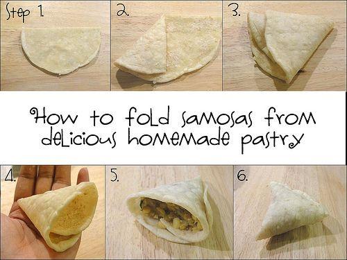 روش های نانپیچ نمودن سمبوسه ( آموزش تصویری)