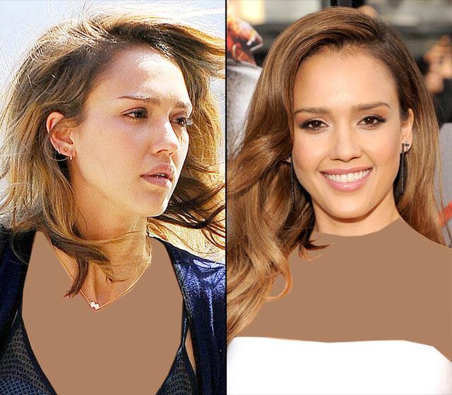 تغییر چهره ستاره های هالیوود با آرایش - اثر میکاپ - زنان هالیوود قبل و بعد از آرایش