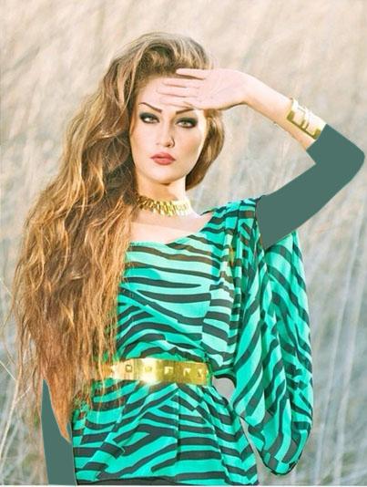 شخصیت های ایرانی عکس و کلیپ  , عکس های طلا گلزار مدل مشهور ایرانی