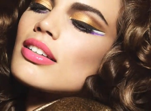 آرایش صورت آرایش و زیبایی  , مدل آرایش صورت طلایی و جذاب
