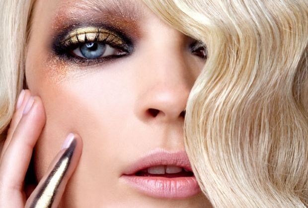 میکاپ - مدل آرایش چهره - مدل آرایش چهره طلایی - سایه طلایی