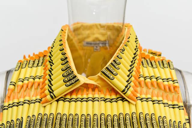 لباس هایی که با مداد شمعی ساخته شده اند