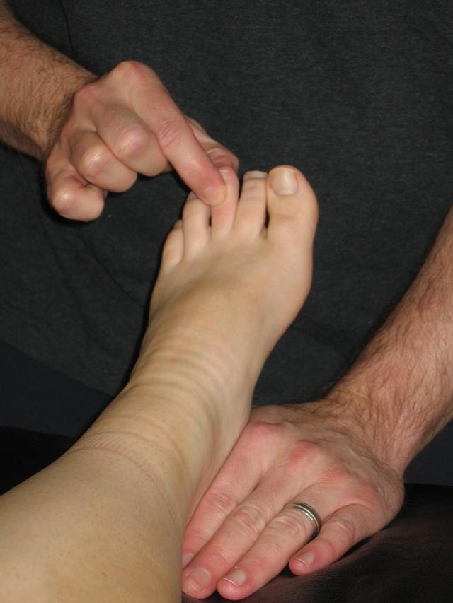حرکت انگشتان پا