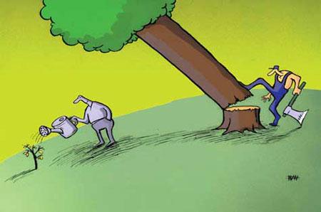 کاریکاتور روز درختکاری, روز درختکاری, کاریکاتور و تصاویر طنز, عکس های خنده دار, کاریکاتور جدید, درختکاری, کاریکاتور درخت , کاریکاتور مربوط به روز درختکاری