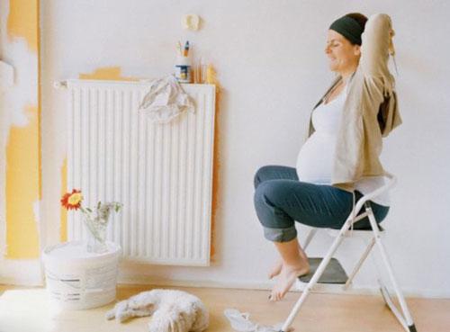 بارداری و زایمان  , خانه تکانی در دوران بارداری
