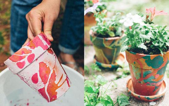 تزیین گلدان,تزیین گلدان با لاک ناخن ,تزیین گلدان ,لاک ناخن ,لاک ,تزئین گلدان با لاک ,تغییر دکوراسیون ,کاردستی , هنرهای دستی ,ایده , خلاقیت , خلاقیت در تزیین