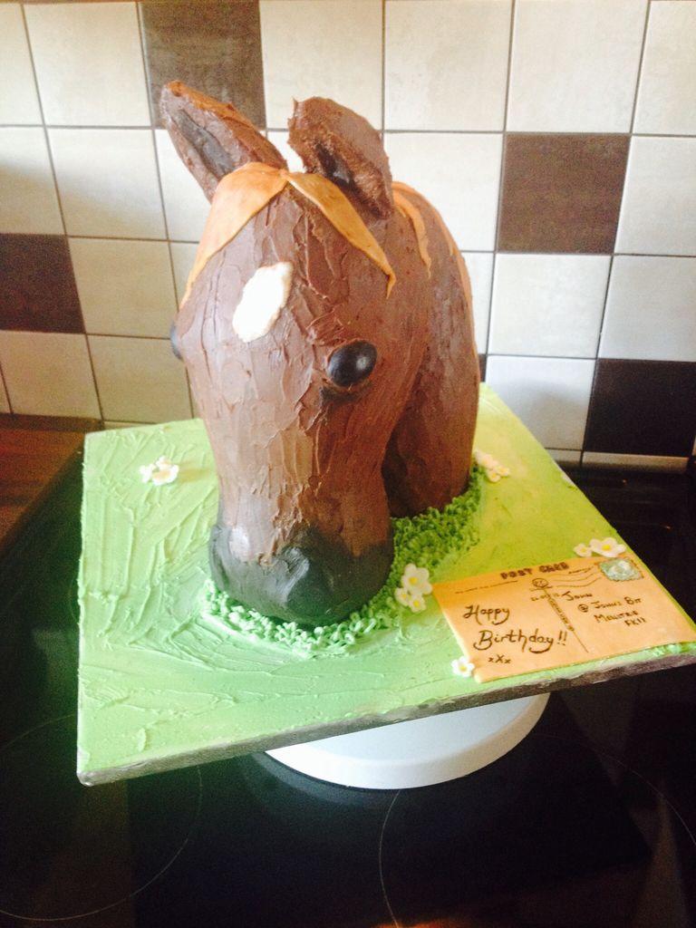 آموزش تزئین کیک به شکل سر اسب - تزیین کیک تولد - تزیین کیک عروسی