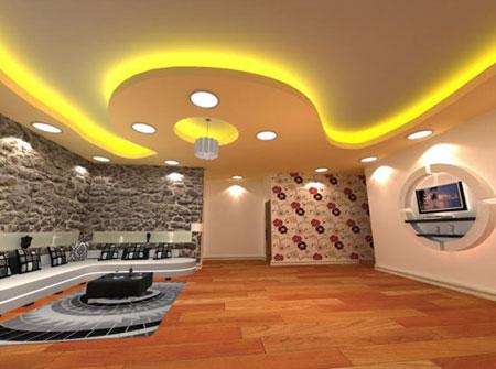 دکوراسیون کناف سقف,طراحی جدید سقف ها