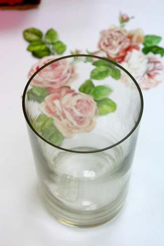 آموزش پتینه - دکوپاژ - نما ترک - تزیین ظرف شیشه ای - کهنه کردن