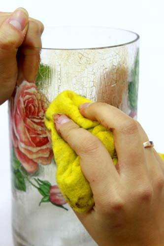 آموزش هنرهای دستی  , آموزش پتینه (نماترک) روی ظروف شیشه ای 2